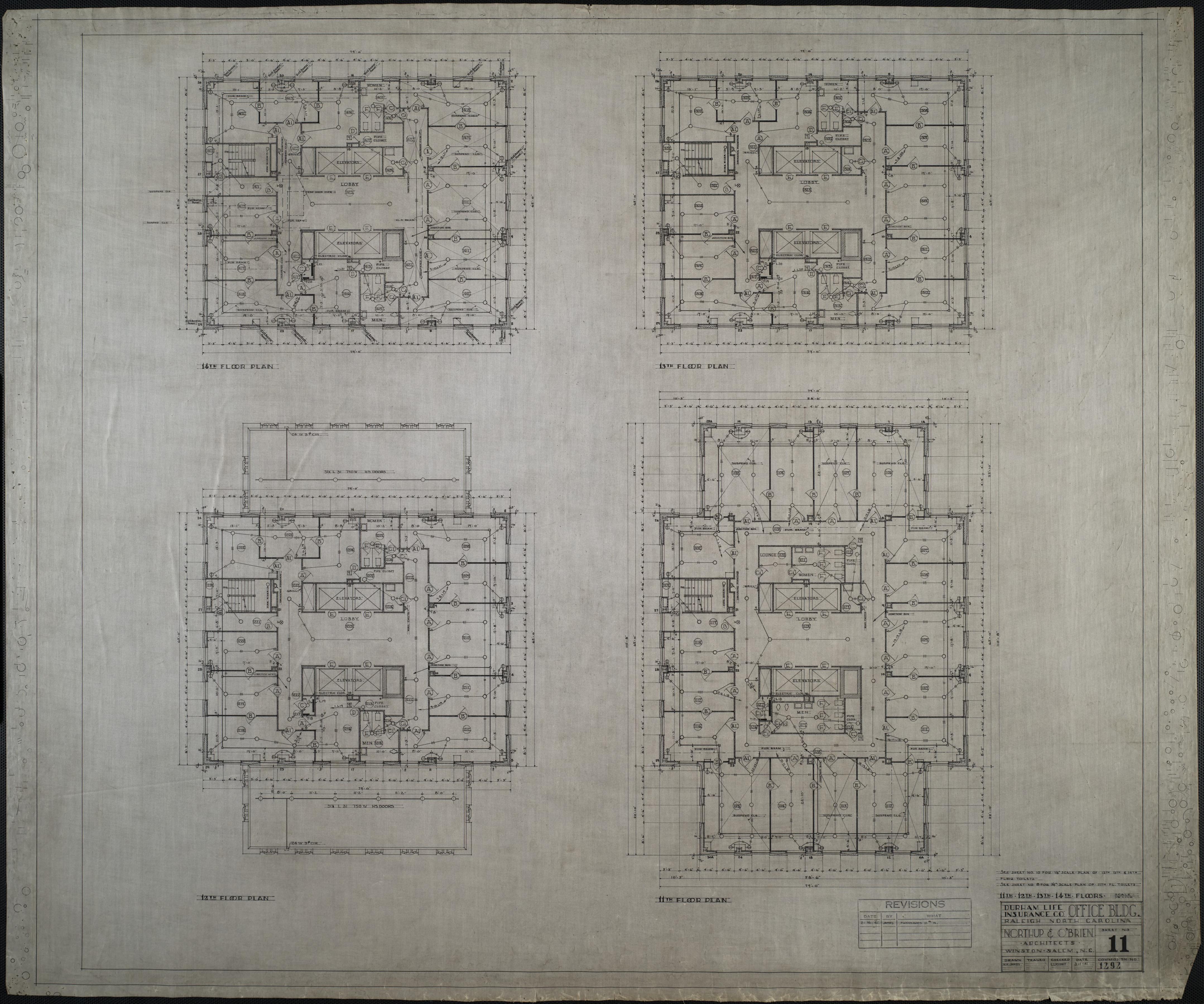 Eleventh floor plan twelfth floor plan thirteenth floor for 13th floor design