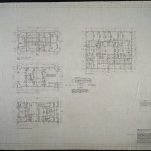 Fifteenth floor plan and penthouse reinforcing plan
