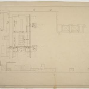 Parital first floor plan, S & W Cafeteria