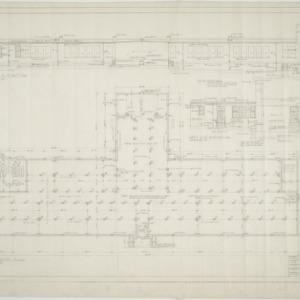 Rear elevation, left side elevation, foundation plan