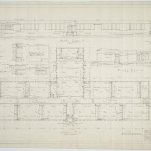 Front elevation, right elevation, floor plan