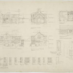 Elevations, garage elevation and floor plan
