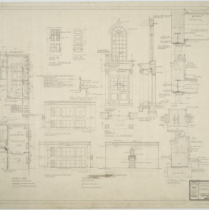 Basement plan, first floor plan, elevations, entrance details