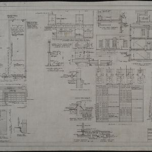 Fire station details, plot plan, cross sections
