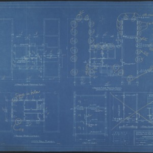First floor framing plan, second floor framing plan, second story lintel plan