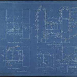 First floor framing plan, second floor framing plan, second story lintel plan