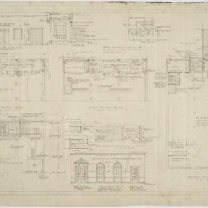 Basement floor plan, first floor plan, second floor plan