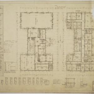 Ground floor plan, first floor plan