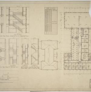 Second floor plan, roof plan