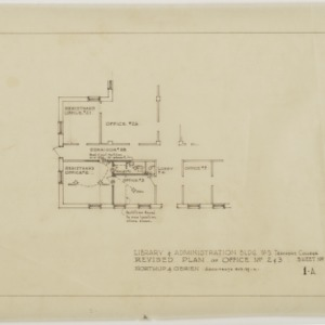 Revised plan of office numbers two and three