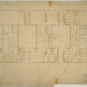 Ground floor plan, first floor plan, second floor plan