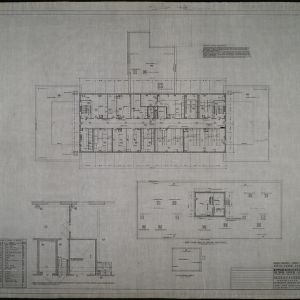 Penthouse, roof, and fifth floor plan