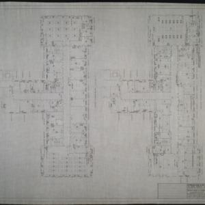 Second floor plumbing plan, third floor plumbing plan