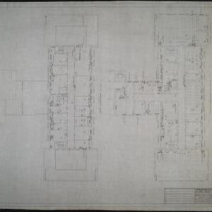 Fourth floor plumbing plan, fifth floor plumbing plan