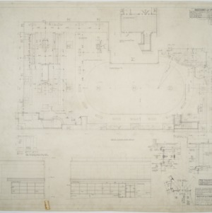 First floor plan, S & W Cafeteria