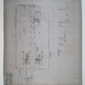 Second floor plumbing and heating plan