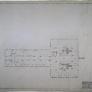 Fourth floor plumbing and heating plan