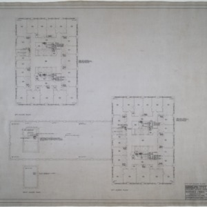 Fifth and sixth floor plumbing and heating plans
