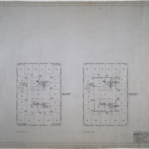 Seventh and eighth floor plumbing and heating plans