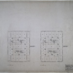 Ninth and tenth floor plumbing and heating plans