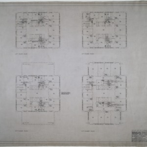 Eleventh, twelfth, thirteenth, and fourteenth floor plumbing and heating plans