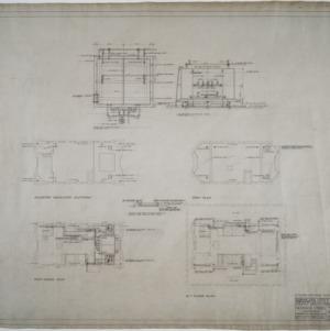 Fifteenth floor, penthouse plumbing and heating plans