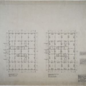 Sixth, seventh, and eighth floor framing plans