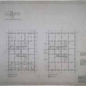 Ninth and tenth floor framing plans
