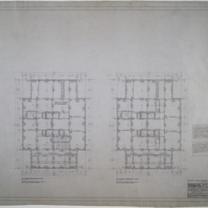 Eleventh and twelfth floor framing plans