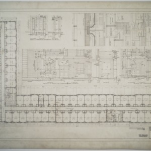 Second floor plan, details of porch, Dormitory D