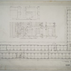 First floor plan, details of porch, Dormitory E