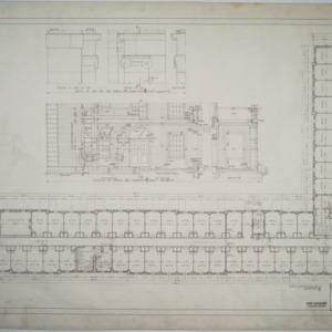 First floor plan, details of porch, Dormitory E