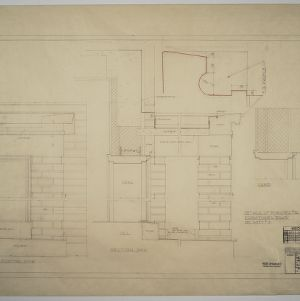 Details of porches, Dormitories D and E