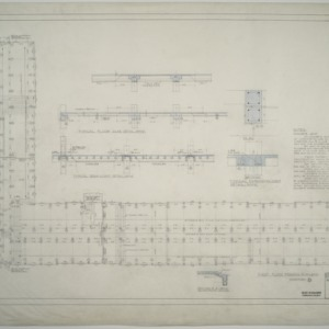 First floor framing plan, Dormitory D