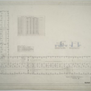 Roof framing plan, Dormitory D