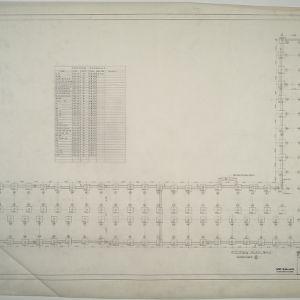 Footing plan, Dormitory E