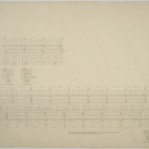 Revised joist spacing plan, Dormitories D and E