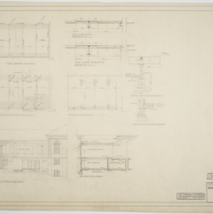 North elevation, framing plans, section