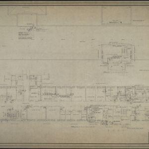 Third floor plumbing plan, roof and fourth floor plumbing plan