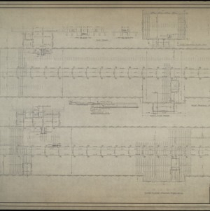 Roof framing plan, third floor framing plan