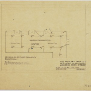 Second floor electrical plan, revised