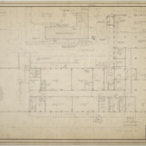 First floor plan, plot plan