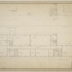 Fourth floor plan, roof plan