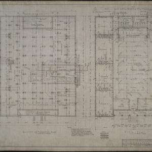 Basement and foundation plan, floor plan