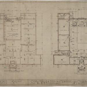 Basement and foundation plan, first floor plan