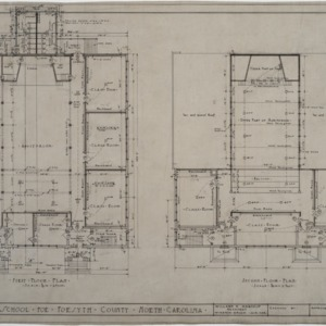First floor plan, second floor plan