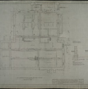 Foundation plan showing basement plan framing