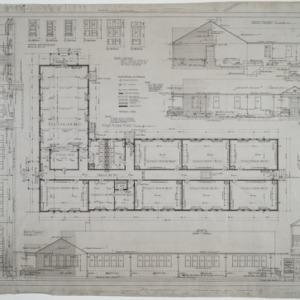 First floor plan, elevations