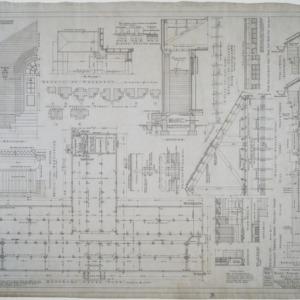 Basement floor plan, details