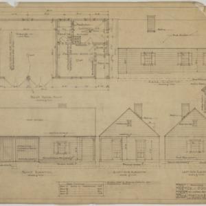 Garage first floor plan, elevations